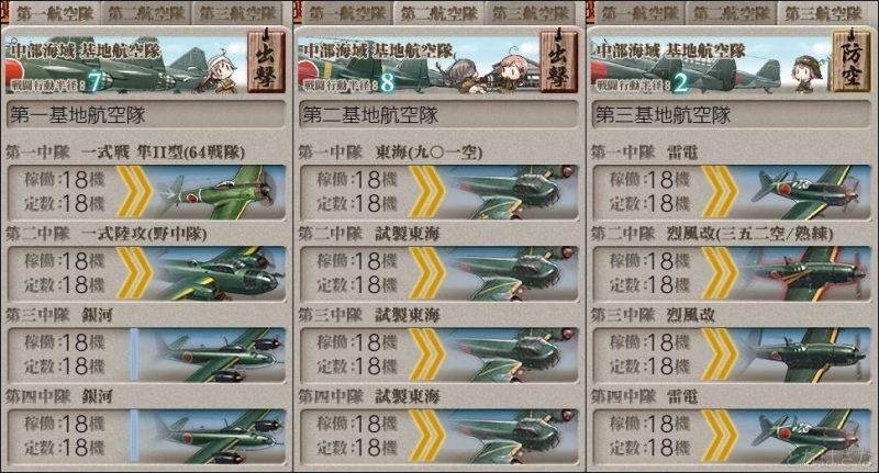 基地航空隊の編成