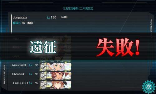 二号船団の失敗