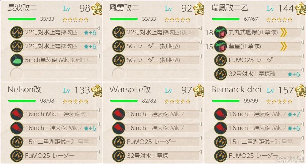 5-1用の支援艦隊編成