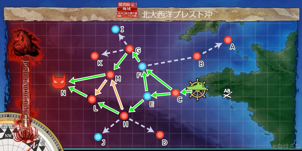 E1マップのゲージ攻略ルート