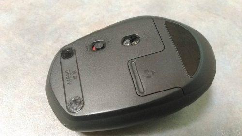 損耗したソールのマウス底面