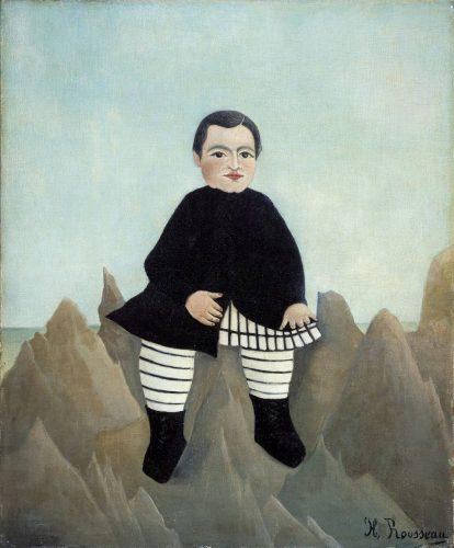 アンリ・ルソー 岩の上の少年