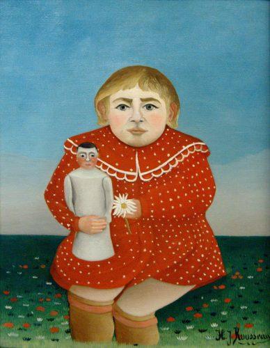 アンリ・ルソー 人形を持つ少女
