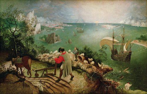 ピーテル・ブリューゲル『イカロスの墜落』
